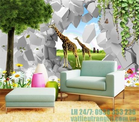 Tranh 3D PVC Ốp Tường